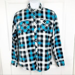 Zoo York Check Plaid Casual Button Down Shirt